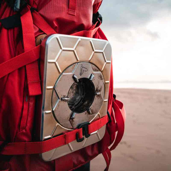 ncamp stove in backpack
