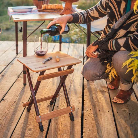 travel chair kanpai side table - wine