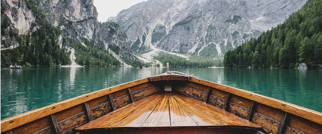 boat on a lake