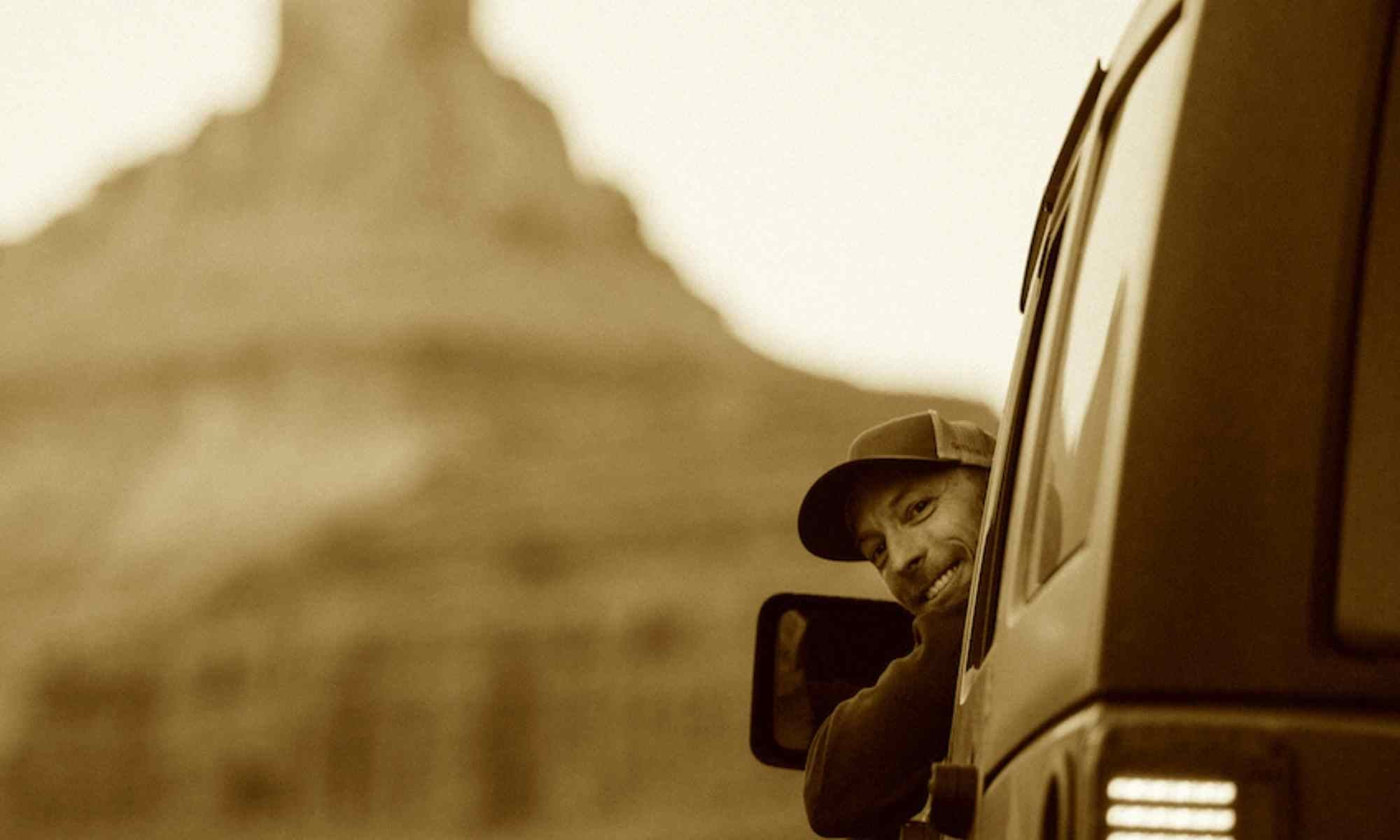 brian in a jeep in Moab