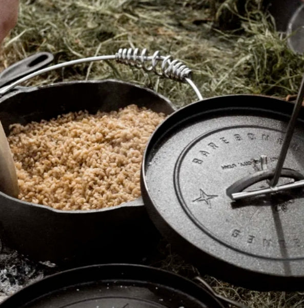 cooking rice in a dutch oven