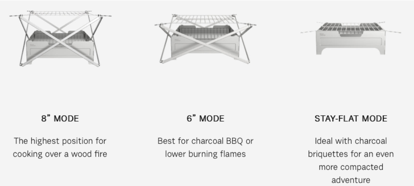 fire safe grilling heights