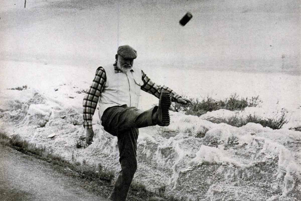 Hemingway Kicking the Can