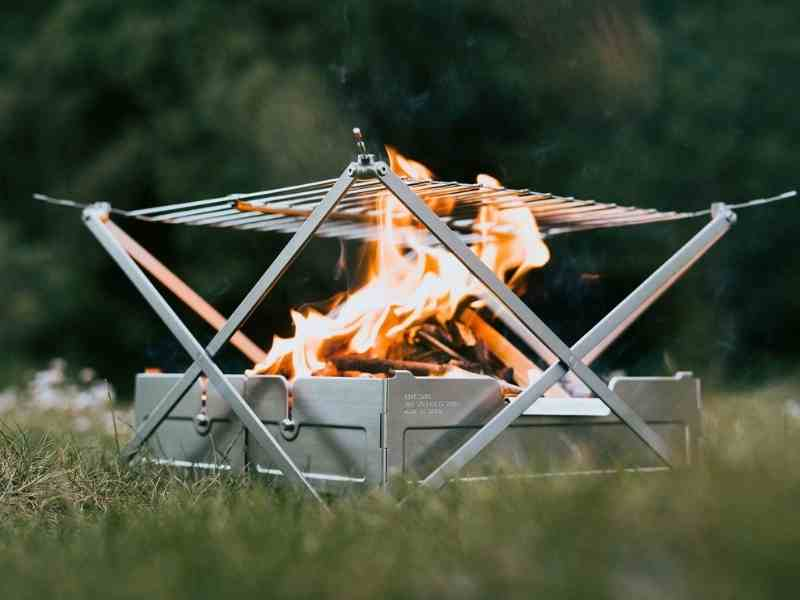 wolf and grizzly campfire grill