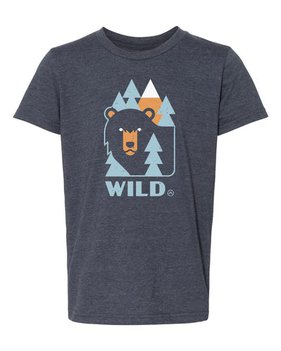 youth wild bear tee