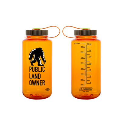 Get Lost Bigfoot public land nalgene bottle - back view
