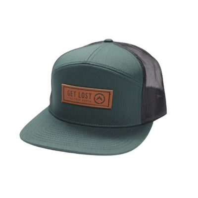 Get Lost Deep Woods 7 Panel Trucker