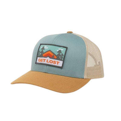 summer camp trucker in yellow