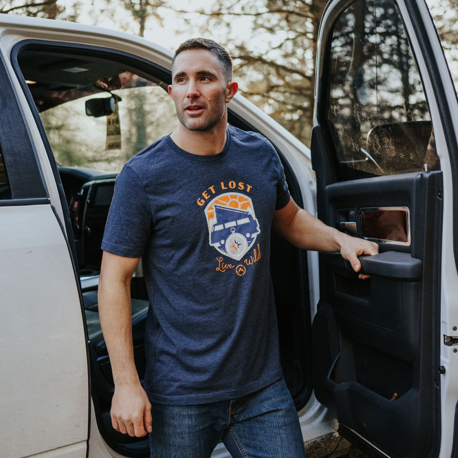 GET LOST CAMPER TEE - MEN'S