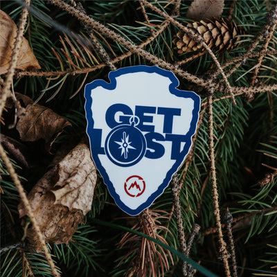 Get Lost Arrow Sticker
