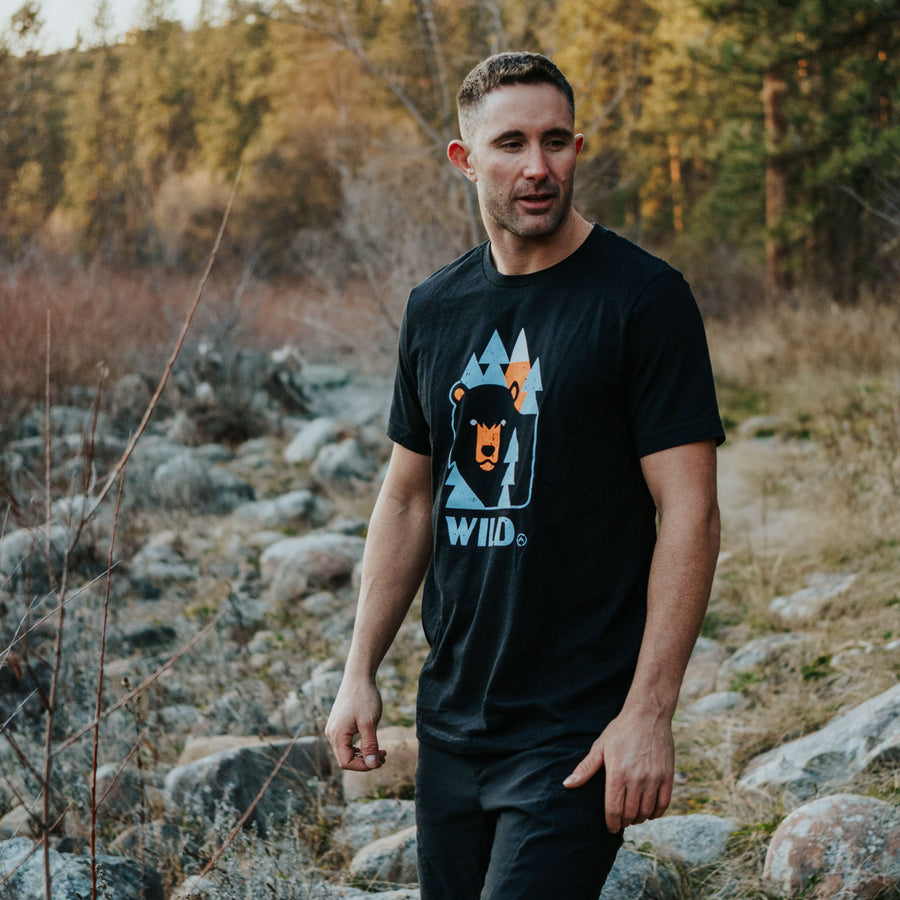 GET LOST WILD BEAR TEE - MEN'S