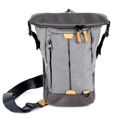 axis slingpack in grey - front view