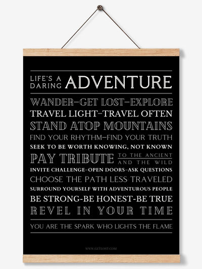 The Way of Adventure Poster - Inspirational Wall Art