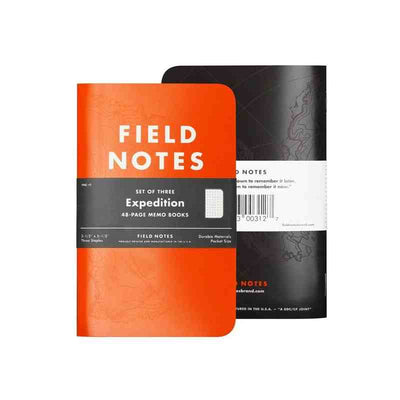 field notes expedition - front and back