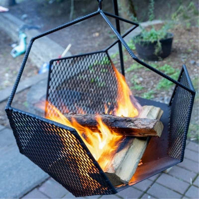 Finished Dodecahedron Fire Pit