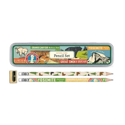 national parks pencil set
