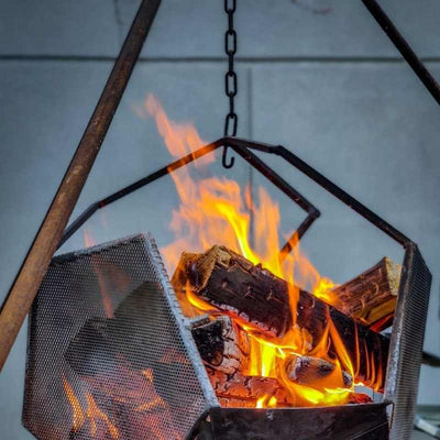 Rustic Dodecahedron Fire pit