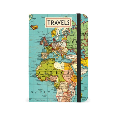 Vintage Travel Map Notebook