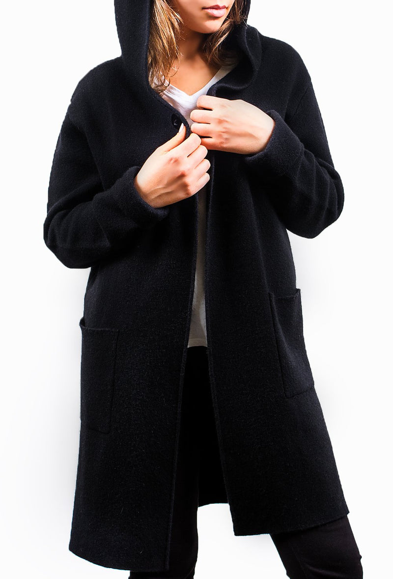 Black Pure Cashmere Coat