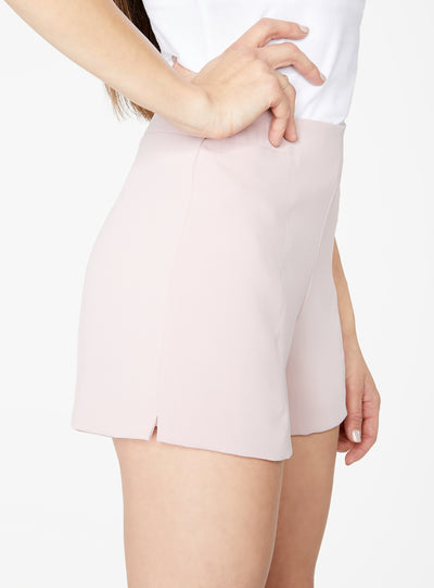 Blush High Waisted Suiting Short