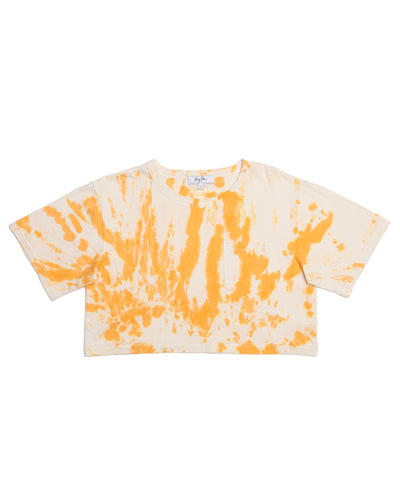 Creamsicle Tie Dye Cropped Pocket Tee
