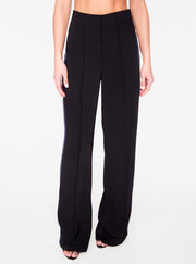 Black High Waisted Relaxed Side Snap Trouser
