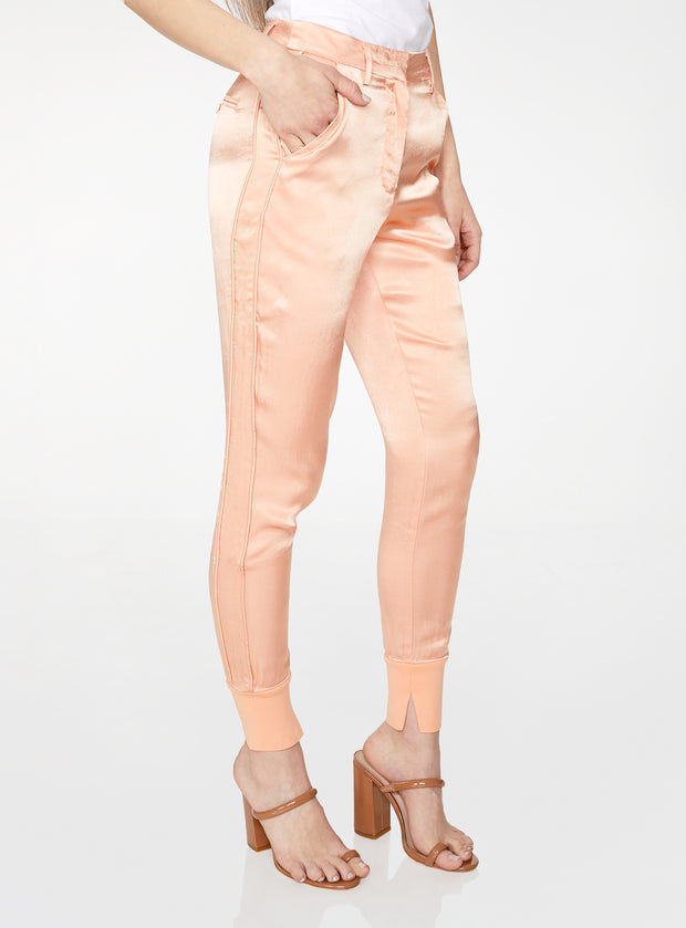 High Waisted Jogger in Peach