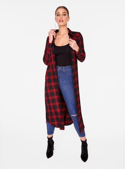 Red Flannel Cowboy Duster