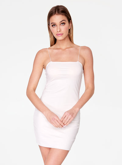 HeyYou Basic Off White Mini Bodycon Dress