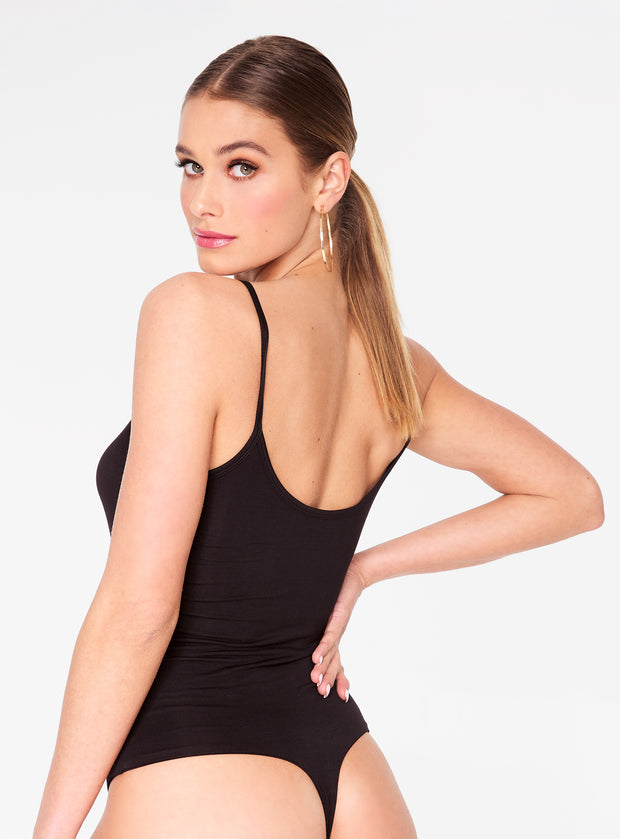 HeyYou Basic Black Strappy Bodysuit