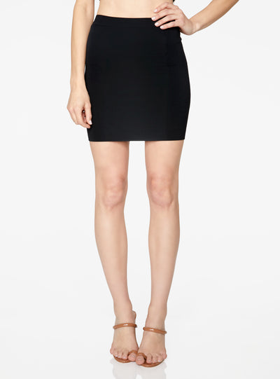 HeyYou Basic Black Knit Mini Skirt
