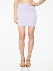 HeyYou Basic Lavender Knit Mini Skirt