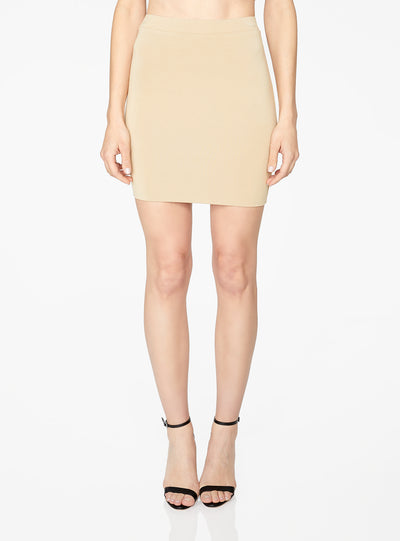 HeyYou Basic Sand Knit Mini Skirt
