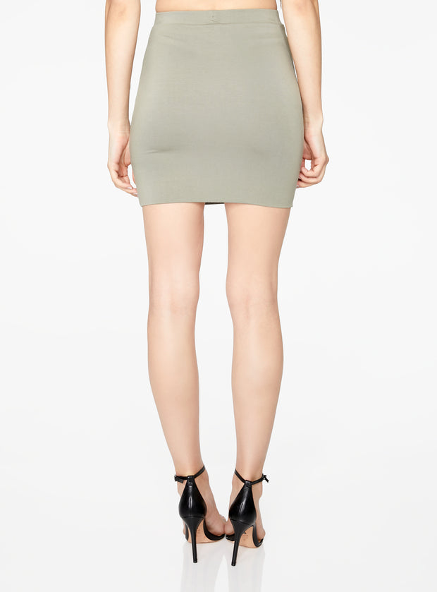 HeyYou Basic Sage Knit Mini Skirt