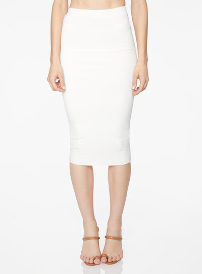 HeyYou Basic Creme Knit Midi Skirt
