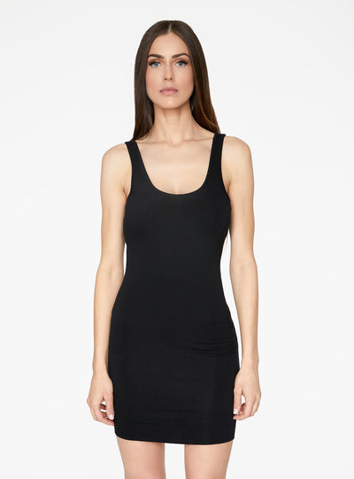 HeyYou Basic Black Tank Mini Bodycon Dress
