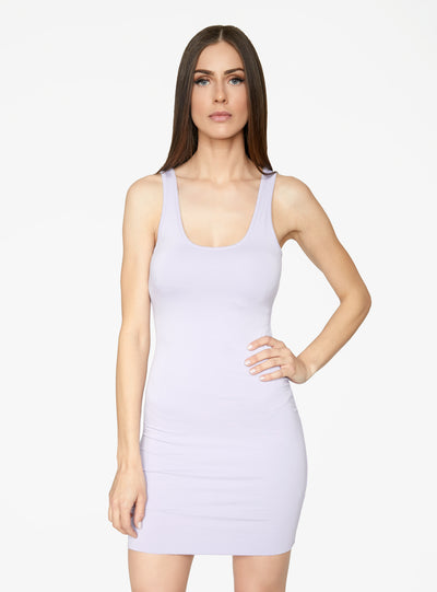 HeyYou Basic Lavender Tank Mini Bodycon Dress