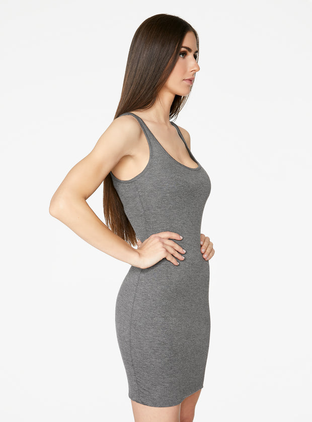 HeyYou Basic Heather Grey Tank Mini Bodycon Dress