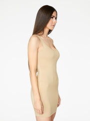 HeyYou Basic Sand Tank Mini Bodycon Dress