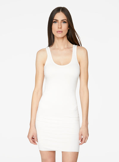 HeyYou Basic Creme Tank Mini Bodycon Dress