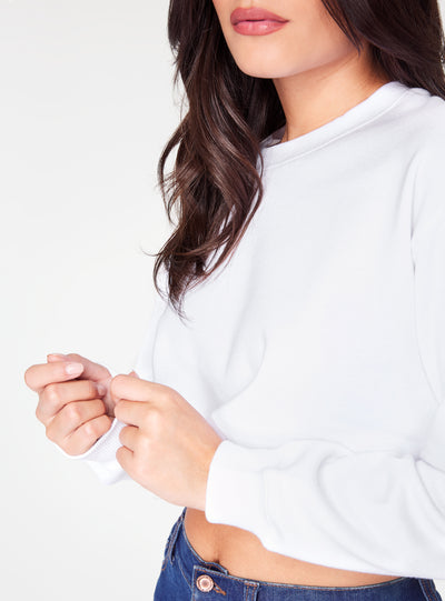 HeyYou Basic White Cropped Sweatshirt
