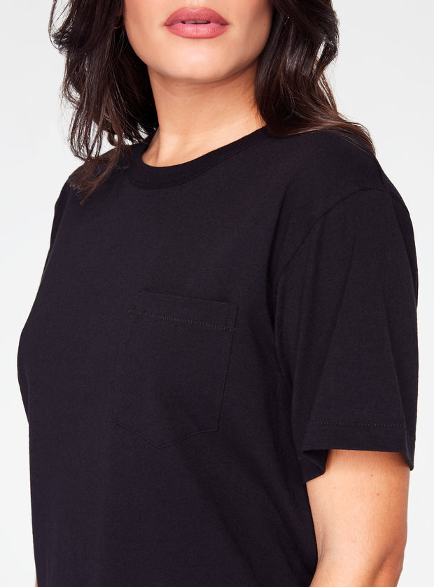 HeyYou Basic Pocket Tee in Black
