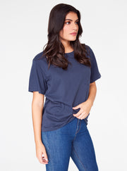 HeyYou Basic Pocket Tee in Night Sky