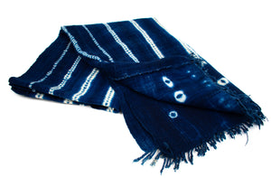 African Indigo Throw Blanket | Marta