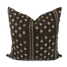 Black African Mudcloth Pillow Cover | Lucy