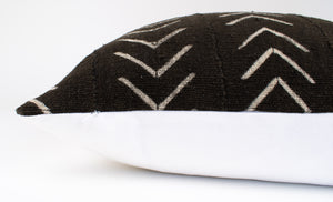 Black African Mudcloth Pillow Cover | Sonja