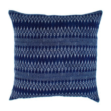 Thai Blue Batik Hmong Pillow Cover | Jessie