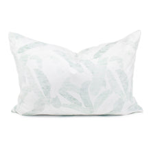 White & Green Banana Leaf Pillow Cover | Allie