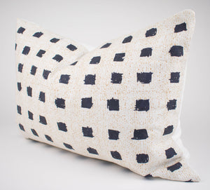 Black & Cream Scribble Pillow Cover | Carly