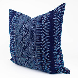 Thai Blue Batik Hmong Pillow Cover | Molly
